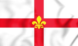 3D Flag of Lincoln City Lincolnshire, England. Royalty Free Stock Photo