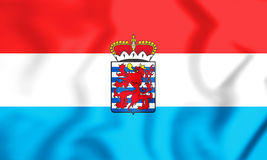 3D Flag of Luxembourg Province, Belgium. Stock Photography