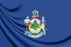 3D Flag of Maine, USA. Stock Photography