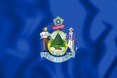 3D Flag of Maine, USA. Royalty Free Stock Photos