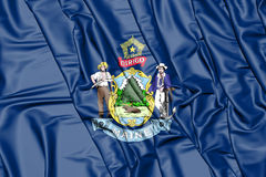 3D Flag of Maine, USA. Royalty Free Stock Photo
