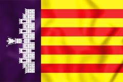 3D Flag of Majorca, Spain. Royalty Free Stock Photos