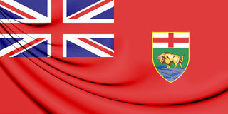 3D Flag of Manitoba, Canada. Stock Photography