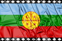 3D Flag of the Mapuche. Royalty Free Stock Photography
