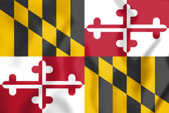 3D Flag of Maryland state, USA. Stock Photography