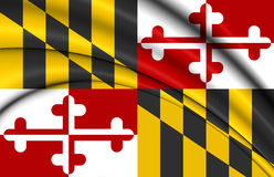 3D Flag of Maryland, USA. Stock Image