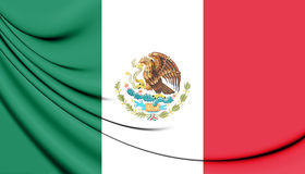 3D Flag of the Mexico. Stock Image