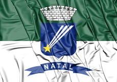 3D Flag of Natal, Brazil. Stock Photography