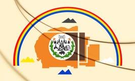 3D Flag of Navajo Nation. vector illustration