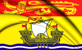 3D Flag of New Brunswick Province, Canada. Stock Photos
