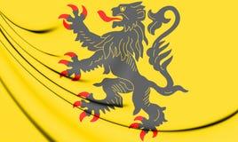 3D Flag of Nord-Pas-de-Calais, France. Stock Photography