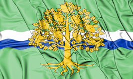 3D Flag of Nottinghamshire, England. Stock Photos