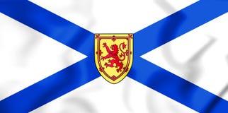 3D Flag of Nova Scotia, Canada. 3D Illustration Stock Images