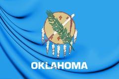 3D Flag of Oklahoma, USA. Royalty Free Stock Image