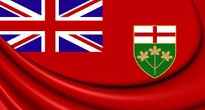 3D Flag of Ontario, Canada. Stock Photo
