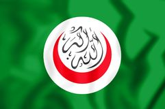 3D Flag of Organisation of Islamic Cooperation. 3D Illustration royalty free illustration