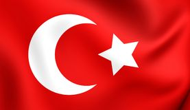 Flag of Ottoman Empire Royalty Free Stock Images