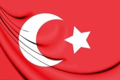 3D Flag of Ottoman Empire 1299-1923. Stock Photography
