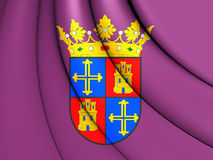 Flag of Palencia City, Spain. 3D Flag of Palencia City, Spain. Close Up stock illustration