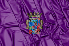 3D Flag of Palencia Province, Spain. 3D Illustration Stock Photos