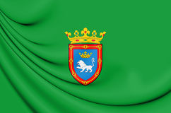 3D Flag of Pamplona Navarre, Spain. Royalty Free Stock Photos