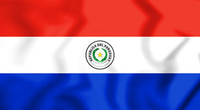 3D Flag of the Paraguay. Royalty Free Stock Images
