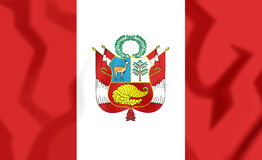 3D Flag of Peru. Royalty Free Stock Photography