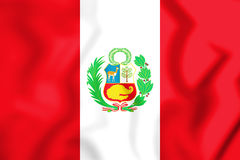 3D Flag of the Peru. 3D Illustration Royalty Free Stock Photo