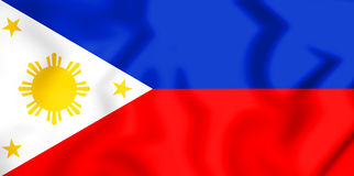 3D Flag of the Philippines. Royalty Free Stock Photos