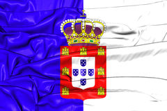 3D Flag of the Portugal 1830-1910. 3D Illustration vector illustration