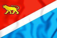 3D Flag of Primorsky Krai, Russia. 3D Illustration Stock Photos