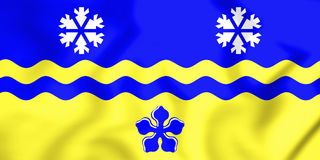 3D Flag of Prince George, Canada. 3D Illustration Royalty Free Stock Photography
