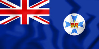 3D Flag of Queensland, Australia. 3D Illustration Stock Photos