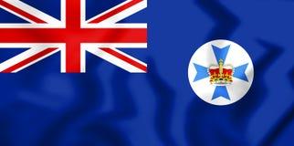 3D Flag of Queensland, Australia. Stock Photos