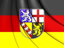 3D Flag of Saarland, Germany. Stock Photo