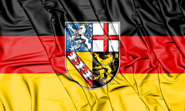 3D Flag of Saarland, Germany. Royalty Free Stock Photo