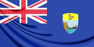 3D Flag of the Saint Helena. Stock Photo
