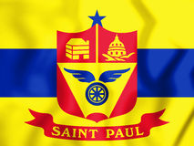 3D Flag of Saint Paul Minnesota, USA. Stock Images