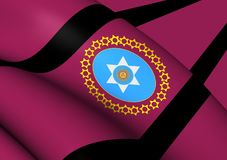 Flag of Salta Province, Argentina. 3D Flag of Salta Province, Argentina. Close Up Royalty Free Stock Photo
