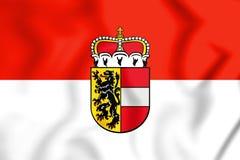 3D Flag of Salzburg, Austria. Stock Photography