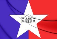 Flag of San Antonio Texas, USA. Royalty Free Stock Photos