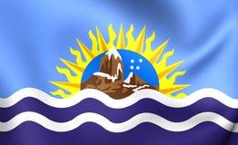 Flag of Santa Cruz Province, Argentina. Royalty Free Stock Images