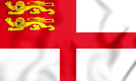 3D Flag of Sark, Bailiwick of Guernsey. Royalty Free Stock Image