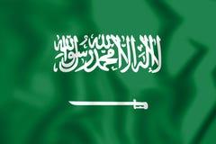 3D Flag of Saudi Arabia. Stock Photo