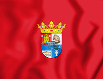 3D Flag of Segovia Province, Spain. 3D Illustration Royalty Free Stock Photography