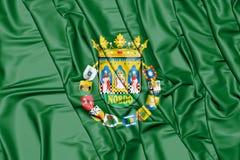 3D Flag of Seville Province, Spain. 3D Illustration Royalty Free Stock Photos