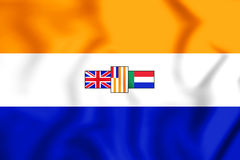 3D Flag of the South Africa 1928-1994. Stock Photo