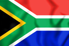 3D Flag of the South Africa. Stock Photo