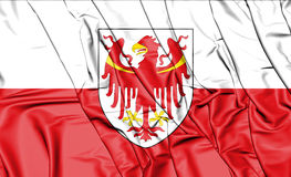 3D Flag of South Tyrol, Italy. Royalty Free Stock Photo