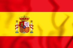 3D Flag of the Spain. 3D Illustration stock illustration